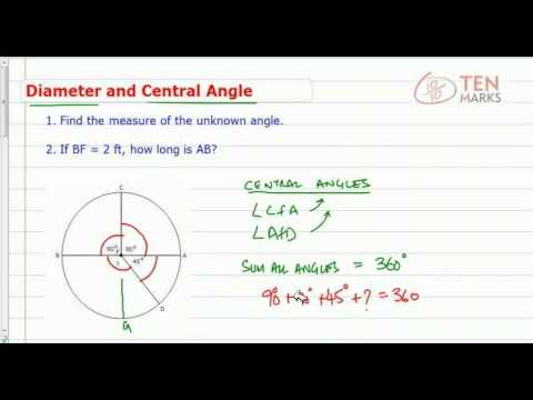 Circles - Diameter and Central Angle