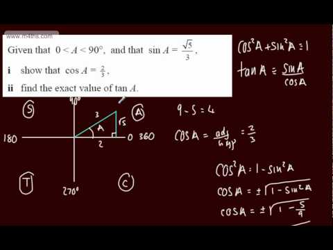 (14) Trigonometry Core 2 - Using identies to find exact values