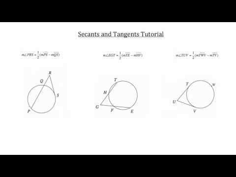 Secants and Tangents PT 2