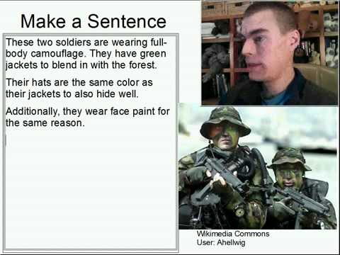 Learn English Make a Sentence and Pronunciation Lesson 72: Camouflage