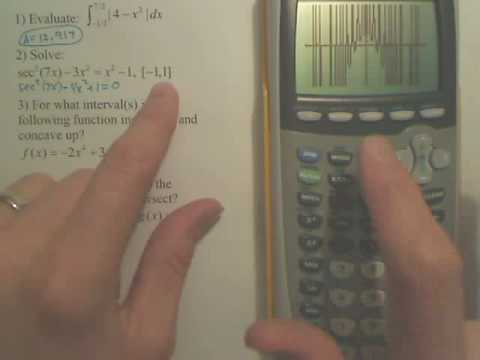 Solving with a Graphing Calculator