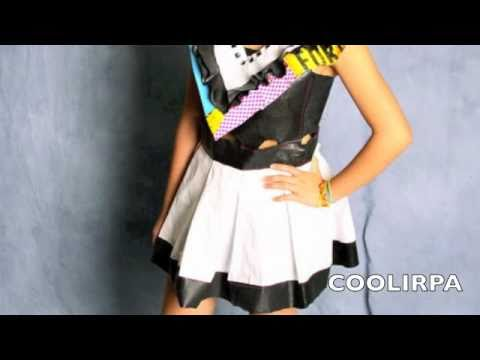 Recycled Trashbag Dress inspired by The Jetsons