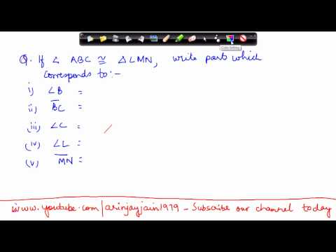 3-Mathematics Class VII -  Congruency of Triansles Problem 1.mp4