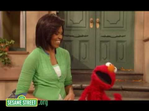 Sesame Street: Michelle Obama and Elmo - Exercise