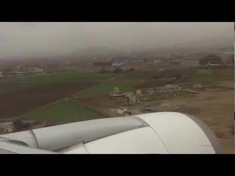 Landing in Lima Peru
