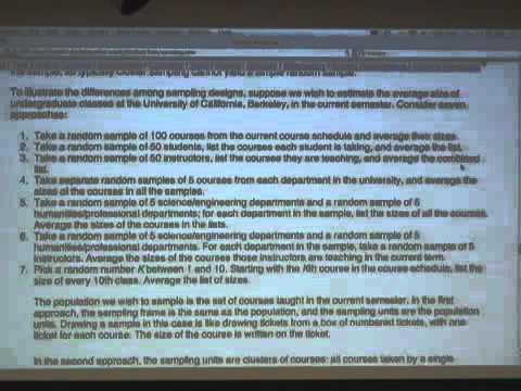 Saylor BUS204: Philip Stark Statistics 21 - Lecture 20