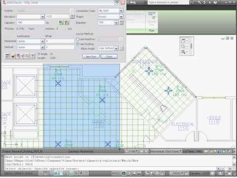 Creating a Mechanical System — AutoCAD MEP 2011