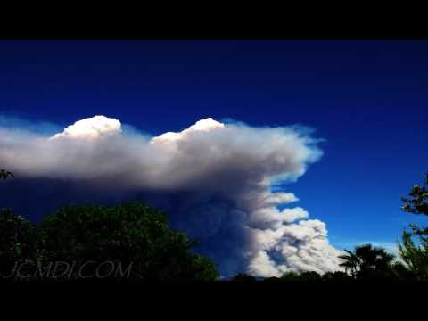 Station Fire Plume 8-30-2009 Spectacular Time Lapse 720p HD
