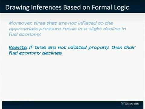 GMAT Prep - Verbal - Reading Comprehension - Drawing Inferences Based on Formal Logic by Knewton