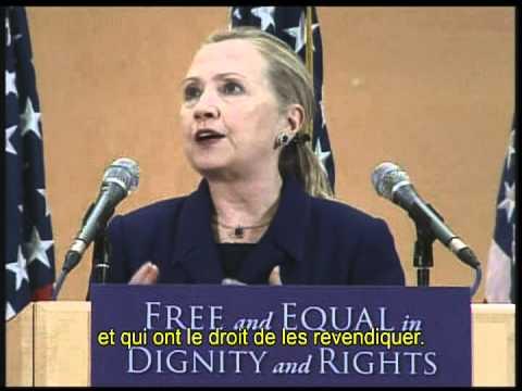 Allocution de Mme Clinton à Genève à l'occasion de la Journée mondiale des droits de l'homme