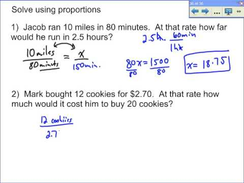 Word Problems Involving Proportions