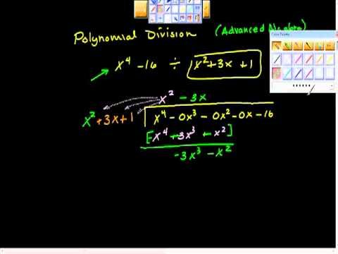 Polynomial Division Remainder Theorem Long division