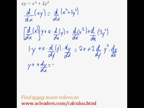 Implicit Differentiation (Calculus) - Easy Example! (Pt. 2)