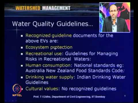 Mod-07 Lec-30 Environmental Guidelines for Water Quality Management