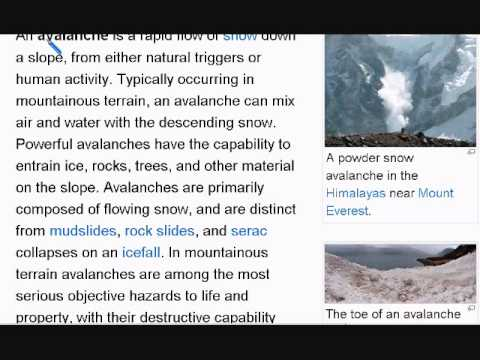 Learn English Reading Lesson #15 Avalanche