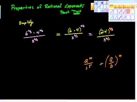Properties of Rational Exponents Part Two