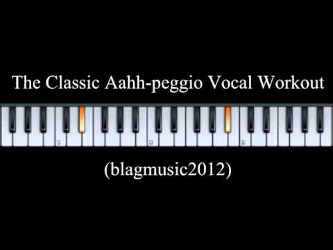 The Classic Aahh-peggio Vocal Workout for Singing Lessons