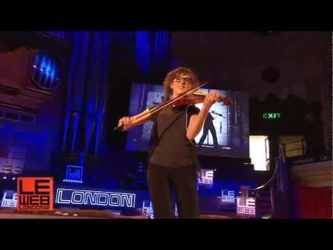 Lindsey Stirling, Hip Hop Violinist  Performs at LeWeb in London 2012