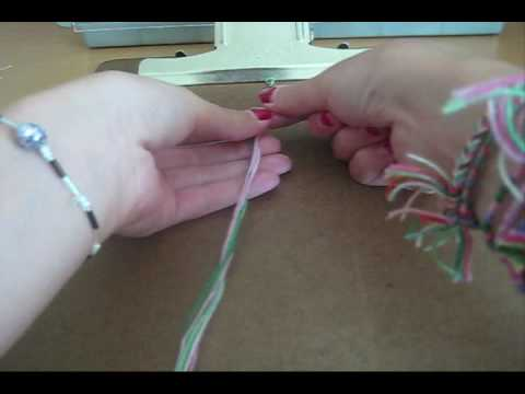 How to Make Friendship Bracelets: Double Chain Knot (really simple)