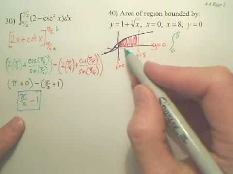 4.4b2 The Fundamental Theorem of Calculus - Calculus