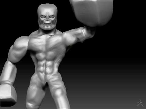 Zbrush Timelapse - Super Villain Part 3/8