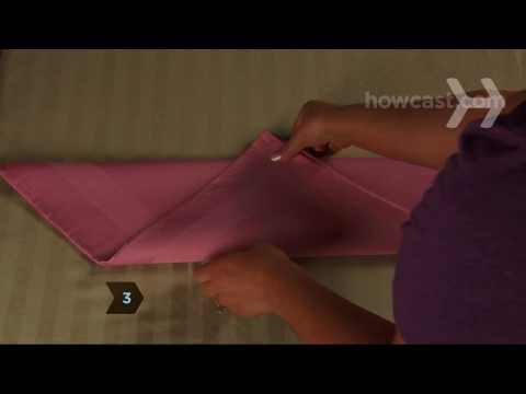 How to Fold Napkins into Fleur-de-Lis Shapes