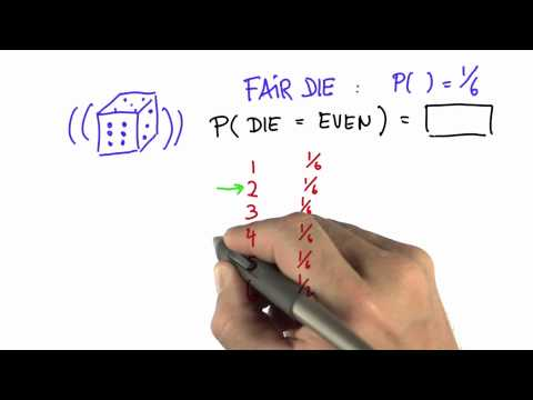 Even Roll Solution - Intro to Statistics - Probability - Udacity