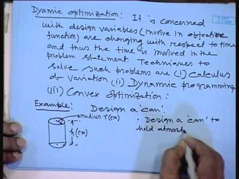 Mod-01 Lec-01 Introduction to Optimization Problem: Some Examples