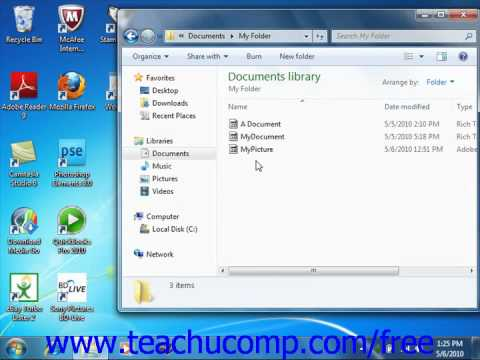 Windows 7 Tutorial Deleting Files Microsoft Training Lesson 6.9