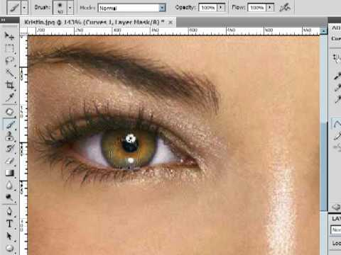 Improving Eyes With Curves  Photoshop CS4 Lesson 3