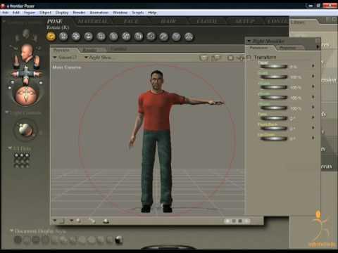 Poser Tutorial - Rotate Tool