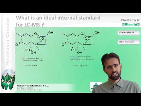 What is an ideal internal standard for LC-MS ?