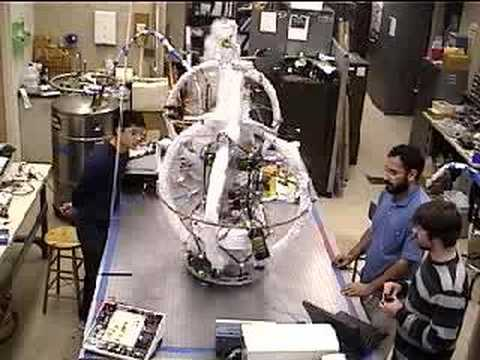Lab demo of magnetic formation flying