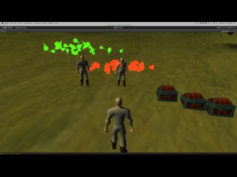 221. Unity3d Tutorial - Particle System (Buff 7 Debuff)