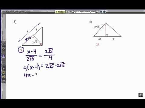 Viewer Challenge 2: How to Solve Right Triangle Altitude Problems