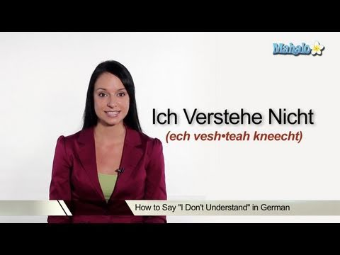 """How to Say """"I Don't Understand"""" in German"""