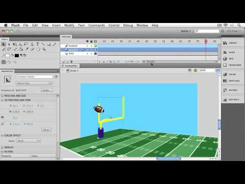 Adobe Flash CS5 Professional : MOVIE CLIP ANIMATION & 3D Animating Scale & Rotation along a Path