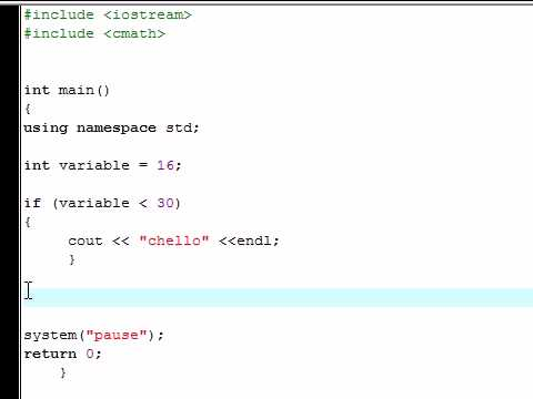 C++  Tutorial - 17 - The if Statement