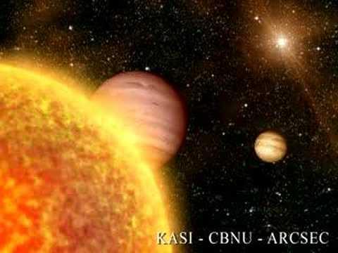 Distant alien solar system