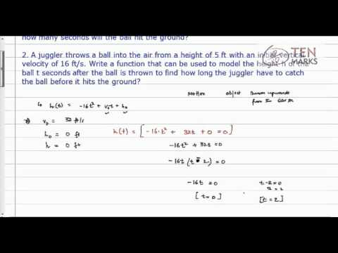 Quadratic Applications - Projectiles