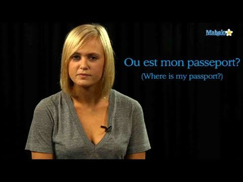 How to Say Passport in French
