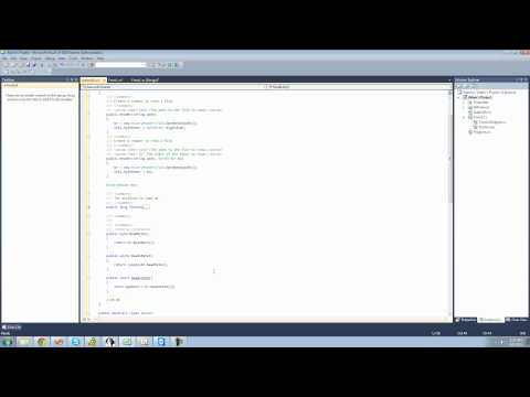 C# Beginners Tutorial - 188 - Project 6 Reading and Writing Classes, Reading Methods