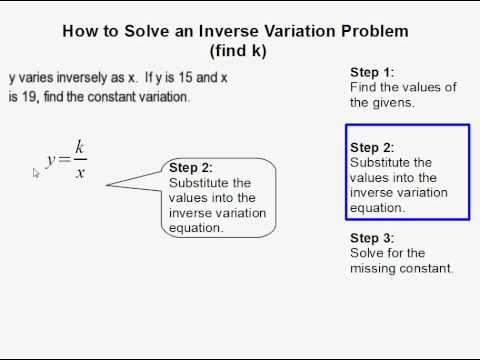 How to Solve an Inverse Variation Problem Where the Constant is Unknown