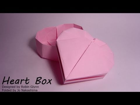 Origami Heart Box (Robin Glynn) - Part 2/2 (Lid)