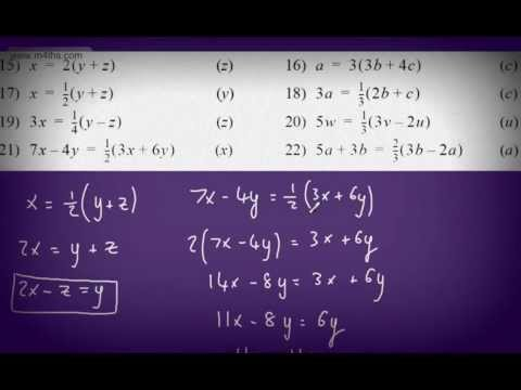 Rearranging Equations GCSE tutorial Maths - Changing the subject of formula