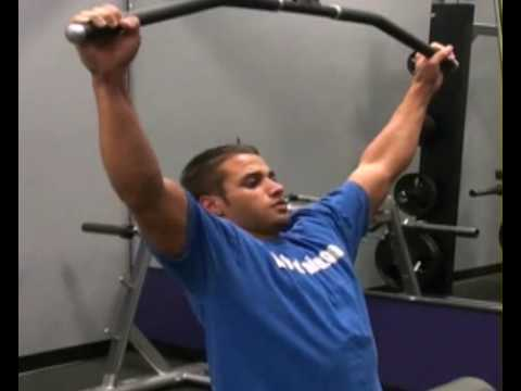 Lat Pull Down Wide Grip Front : BeYourTrainer.com