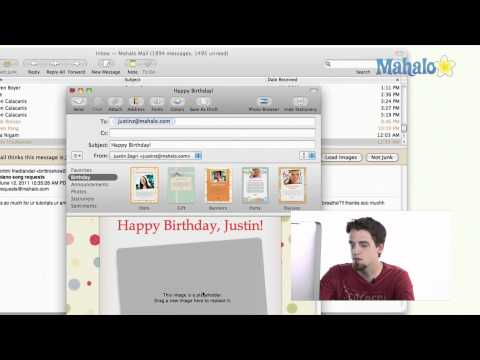Mail - Using Stationery - Learn Mac OS Snow Leopard
