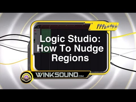 Logic Pro: How to Nudge Regions | WinkSound