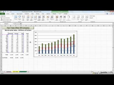 Excel, Office: Adding, editing, and removing legends | lynda.com