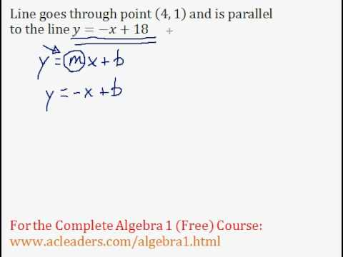 (Algebra 1) Linear Equations - Parallel Lines #2